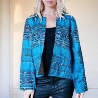 Silk Kantha Hand Stitched Ladies Jacket