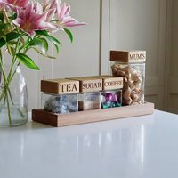 Personalised Wooden Kitchen Organiser Tray