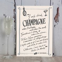 Champagne Typography Print