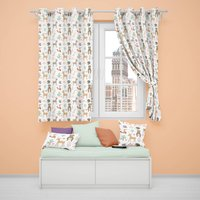 Woodland Animals Blackout Lined Curtains