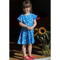 Girls Blue Short Sleeved Stackhouse Skater Dress