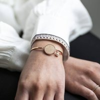 Personalised Sparkle Disc Bangle Bracelet