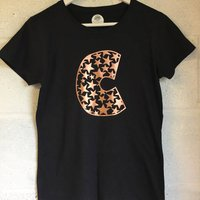 Personalised Rose Gold Star Print Tshirt