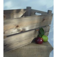 Vintage Style Apple Crate, Jasmine/Cream/Seagrass
