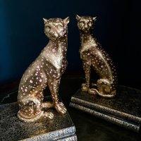 Cheetah Bookends Gold