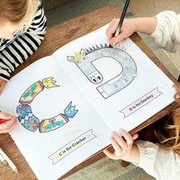Christmas Alphabet Colouring Book
