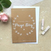 Page Boy Thank You Card