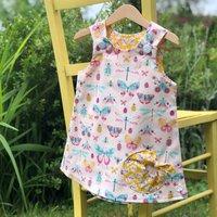 Girls Handmade Butterfly And Nature Dress