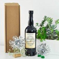 Personalised Christmas Port Bottle