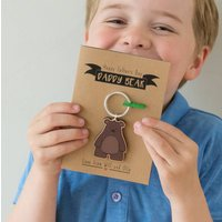 Daddy Bear Keyring And Card
