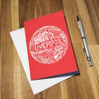 Liverpool Football Club Greetings Card