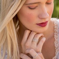 Silver Star Cluster Stacking Ring, Silver