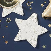 Gold Foiled Star Shaped Paper Napkin