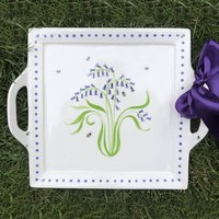 Bluebell Two Handled Square Platter