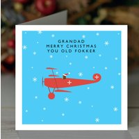 'Merry Christmas You Old Fokker' Personalised Card