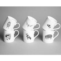 Set Of Six Wildlife Mugs