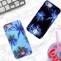 Palm Sky Personalised Initials iPhone Case