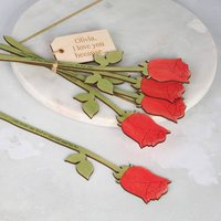 Mummy I Love You Because... Personalised Red Roses