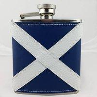 Personalised Scottish Flag Hip Flask