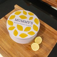 Personalised Circle Lemon Cake Tin