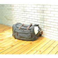 Canvas Holdall With Side Pockets