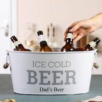 Personalised Beer Cooler Bucket With Handles