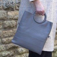 Leather Grab Bag Five In One Handbag