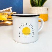 'Road Trips And Ocean Dips' Ceramic Mug