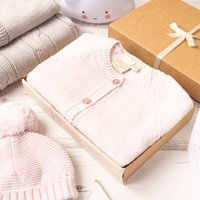 Baby Girl Pink Sparkle Cardigan