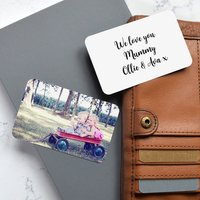 Personalised Double Sided Wallet Metal Photo Card