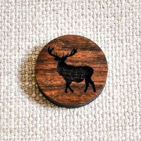 Wooden Stag Pin