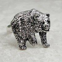 Bear Ring Antiqued Pewter