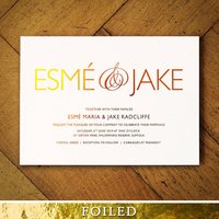 Pure Foiled Wedding Invitations, Gold/Silver/Rose Gold