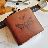 Moth Leather Flask