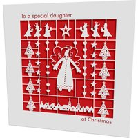 Christmas Card Laser Cut Daughter