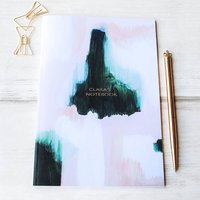 Pink And Green Personalised Notebook For Her