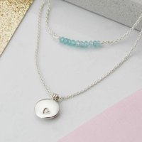 Double Row Heart Locket Necklace