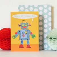 Personalised Bubble Robot Card