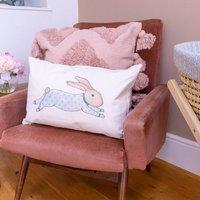 Fair Trade Leaping Bunny Bolster Cushion