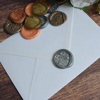Self Adhesive Geometric Heart Wax Seal Stickers