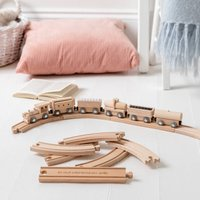 Personalised Christening Wooden Train Set And Track