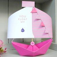 'You Float My Boat' Card Keepsake