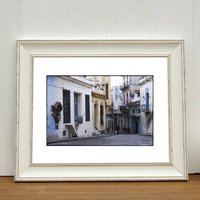 Pastel Shades, Old Havana, Cuba Photographic Art Print