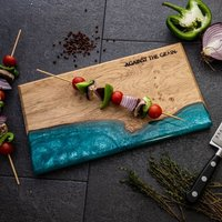 Wood And Resin Chopping Board
