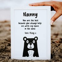 Personalised Why Nanny Is The Best Print