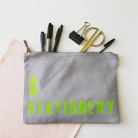 A Is For…Stationery, Makeup And Accessories Bag