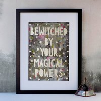 'Your Magical Powers' Typographic Quote Papercut Print