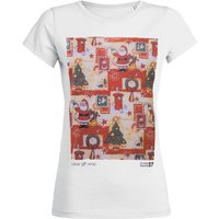 Womens Festive Christmas Wrap T Shirt