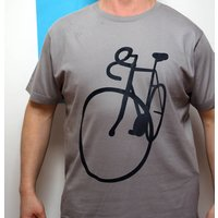 Bike Sketch T Shirt, Grey/Navy/Dark Blue