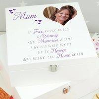 Personalised Photo Remembrance Memory Keepsake Box